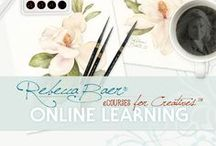 Online Courses / Online learning | eCourses for Creatives | Painting | Stenciling | Art & Design | Color Theory | Watercolor | Acrylic | Furniture