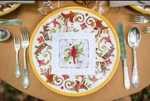 Fall Entertaining / Celebrate fall with seasonal linens, tablescapes and decor.