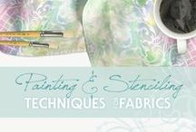 Painting & Stenciling Fabric / Fabric Painting | Stenciling on Fabric | Mixed Media Techniques for Fabric | How to Stencil on Fabric | Techniques for Fabric