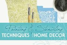 Painting & Stenciling Techniques for Home Decor / Home Decor Inspirations | Painting and Stenciling Techniques for Your Home | Floor and Wall Finishes |  Home Decor Accessories