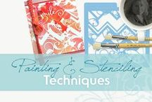 Painting & Stenciling Techniques for Cards & Paper Crafts / Art Journaling | Card Paper Craft Inspirations | Painting and Stenciling Techniques for Artists & Crafters | Mixed Media