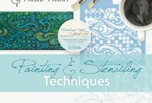 Painting & Stenciling Techniques for Art Journaling & Mixed Media / Art Journaling | Card Paper Craft Inspirations | Painting and Stenciling Techniques for Artists & Crafters | Mixed Media