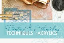 Painting & Stenciling Techniques for Acrylics / Painting and Stenciling Techniques | Acrylics | Ideas and Inspirations | How to Stencil | Learn to Paint