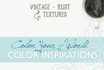 Color & Texture Inspirations | Rust & Vintage Paint / Be inspired by the timeworn colors and textures that surround us. Rust | Weathered | Patina | Aged | Vintage | Antique | Corrosion | Chippy Paint | Verdigris | Distressed