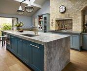Roundhouse kitchens - blue / Blue kitchens