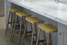 Kitchen stools / Just a few ideas for kitchen stools collected by Roundhouse kitchens from around the web