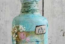 Art Bottles / Decorated bottles / by Madge Chaney