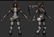 3D | Character Design / Some of my 3D projects :-)