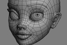 Topology | 3D Polygonal Models / Compiling best examples of topology for modeling 3D characters.