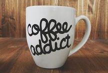 Coffee addict. / Coffee = hug in a mug!