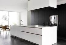 L O F T - Kitchen / Kitchen / Loft / Style / Béton ciré / Gris / Noir / Bois