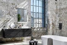 L O F T - S D B / Béton - marbre - gris - anthracite - minimaliste - design  Bathroom