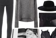 L O O K / Chic - minimalisme - basic - classic | grey black white nude
