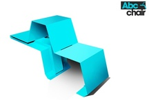 Abc chair / Seduta-ripiano modulare e componibile - Modular sitting-table chair
