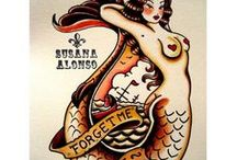 Tattoo Design & Illustration / Tattoo design from vintage Sailor Jerry style to our favorite fine art ink.
