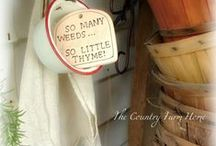 Garden Things / by The Country Farm Home