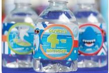 Water bottle wrappers / Themed birthday party water bottle labels or wrappers for your next celebration. Many can be personalized with your child's name and age!