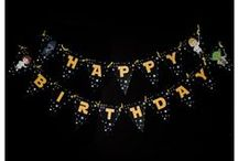 Birthday Party Banners & Garlands / Party Banners and Garland for your birthdays and event parties! Fun themes and beautiful designs. We sell them in PDF format or print, cut, and ship in the US