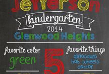 Back to School / Back to school chalkboard signs and lunch notes