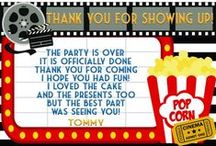 Thank You Cards / Themed birthday party thank you cards