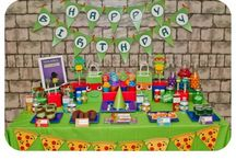 Teenage Mutant Ninja Turtle Birthday Party! / TMNT themed birthday party! Cowabunga dude! This total awesome party is fun to shell-abrate with!