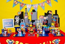 Super Hero Birthday Party / Superhero party for the super hero in your life! Bright, fun colors, and adorable! Pow!