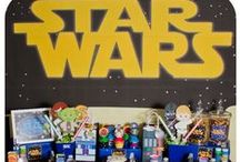 Star Wars Birthday Party / Star Wars themed birthday party ideas! Perfect for the Star Wars lover or your next Jedi's birthday celebration! Can be personalized with your child's name and age.