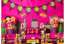 Supergirl Birthday Party / Superhero themed birthday party for the super girl in your life!