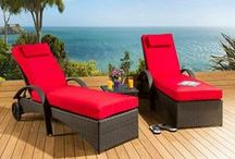 Sunbeds & Day Beds / Lie back and relax with one of luxurious daybeds or sun loungers. Crafted from the finest rattan, with soft, deep, fully fire retardant cushions you can sink into. Our daybeds and loungers coordinate beautifully with the rest of our garden range so you can complement with a side table, footstool, dining or sofa options. The perfect way to top up your tan.