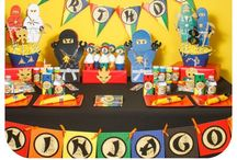 Ninjago Birthday Party / Ninjago themed birthday party can be personalized with your child's name and age! Ninja up!!