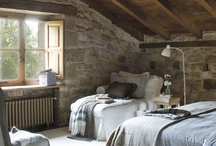 House Design - Bedrooms / Bedroom ideas: again tall ceilings, big dramatic Windows, lots of light, lots of wood and stone, rich deep fall colours. Style mostly country modern, elegant but with lots of earthy textures!