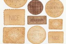 Biscuit Art / All things biscuit here on this board. My obsession with the British Biscuit continues with this collection of beautiful art work all based on biscuits - from the humble Digestive to the might Bourbon. Stunning illustration and artwork.