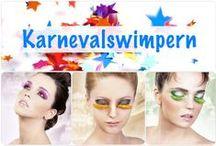 Wimpern für Karneval & Fasching / Karnevalswimpern & Faschingswimpern - Auffällig, verrückt, voller Farben, lang und mit Federn!