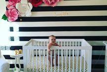 Stripes & Floral Nursery Ideas