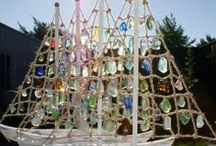Sea Glass / This board shows some of my Sea Glass and beachcombing crafts.