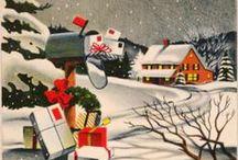 Christmas / Christmas cards, Santa, karácsony