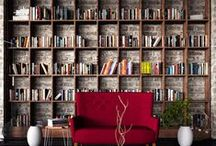 Libraries, bookshelves and bookcases
