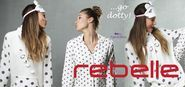 Polka dot Nightwear / Fashionable Night & Homewear from Pastunette & Rebelle with spots & dots, with lots of nightdresses, pyjamas, morning gowns.