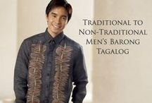 Men's Barongs / Traditional to Non-Traditional Men's Barong Tagalog Now's the time to refresh…cool colors, luxe fabrics and clean lines inspire for your very special day.