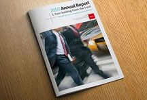 Annual report design inspiration / A selection of high quality annual reports, great designs and inspiration