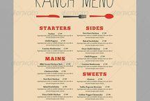 Menus / My favourite menu designs