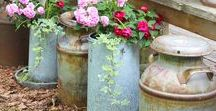 Garden Junking / Repurpose DIY ideas for the garden. Making something out of nothing! Turn your junk into garden treasures.
