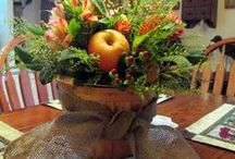 Fall Decor Projects DIY / Indoor and outdoor decor to celebrate the fall, Thanksgiving and Halloween.