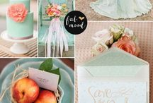 Mint & Peach  Whimsical Wedding / Mint & peach palette flwith whimsical details for your wedding