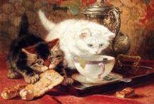 CAT ART / GATTI NELL'ARTE CATS CHATS KATZE GATOS