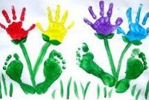 HAND  & FOOT ART / Create with Hands & Feet Creare con Mani & Piedi Créer avec Mains & Pieds Kreation mit Händen und Füßen Crear con Manos & Pies