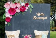 Photo booth inspiration / How to have fun at weddings with photo booth creations.