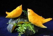 BIRD FOOD ART / BIRDS UCCELLI OISEAUX VOEGEL in  FOOD ART