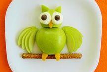 OWL FOOD ART / OWLS CIVETTE & GUFI CHOUETTES & HIBOUX EULEN
