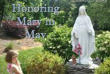 """May Crowning; ^A^ Queenship of the Immaculate Heart of Mary ^+^ / Hail,Holy Queen enthroned above,O Maria! Hail, mother of mercy and of love,O Maria! Triumph all ye cherubim,Sing with us,ye seraphim. Heaven and earth resound the hymn...SALVE,SALVE,SALVE,REGINA! O Mary,we crown thee with blossoms today,Queen of Angels,Queen of the May. The glorious Assumption and Coronation of The Holy Mother of God. The triumph of the most Blessed Virgin, to crush the head of the serpent, through devotion to her Immaculate Heart. Board also includes """"Mary Gardens"""" / by Davison Smith"""